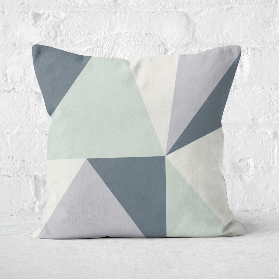 Grey Geometric Shapes Square Cushion - 60x60cm - Soft Touch von By IWOOT