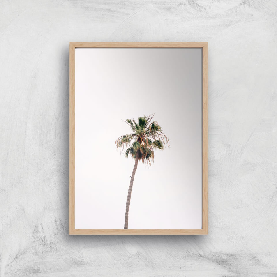 Lonely Palm Tree Giclee Art Print - A2 - Wooden Frame von By IWOOT