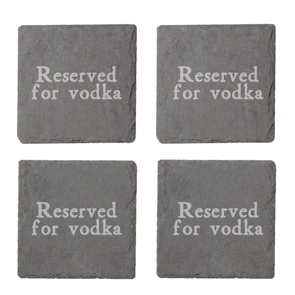 Reserved For Vodka Engraved Slate Coaster Set von By IWOOT