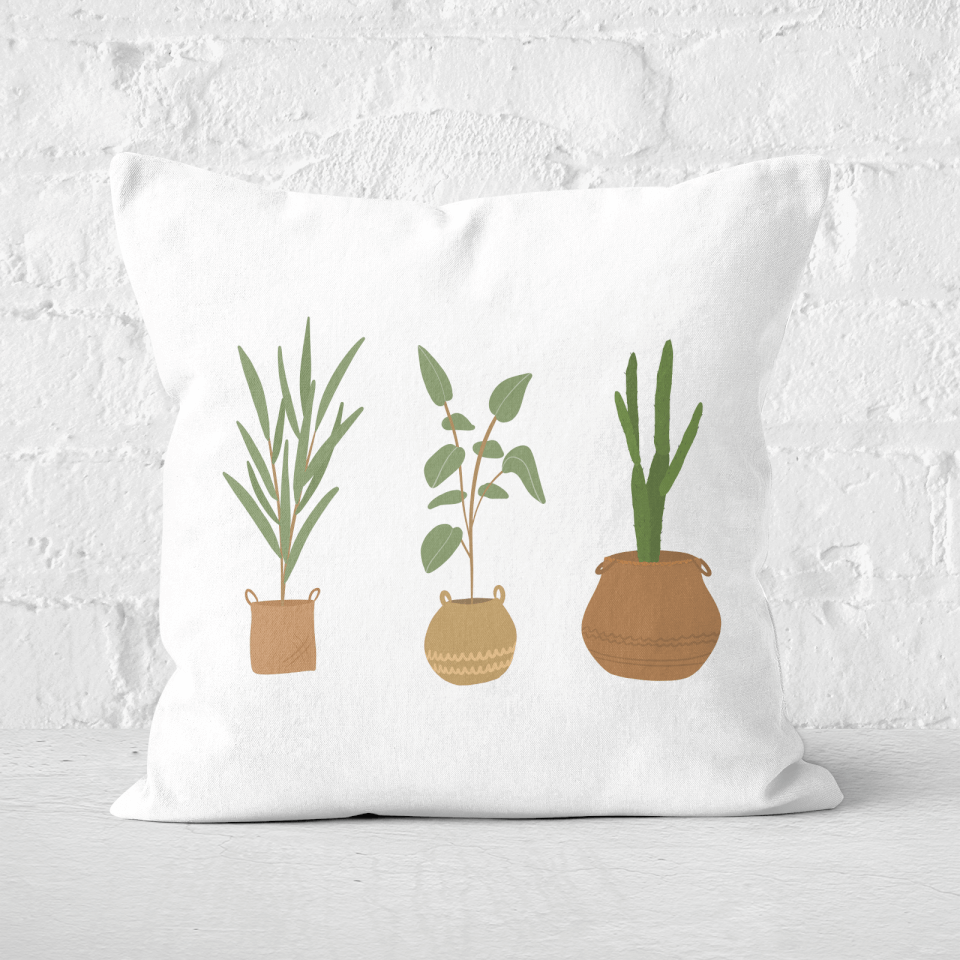 Plants Square Cushion - 60x60cm - Soft Touch von CALM/ZEN/YOGA