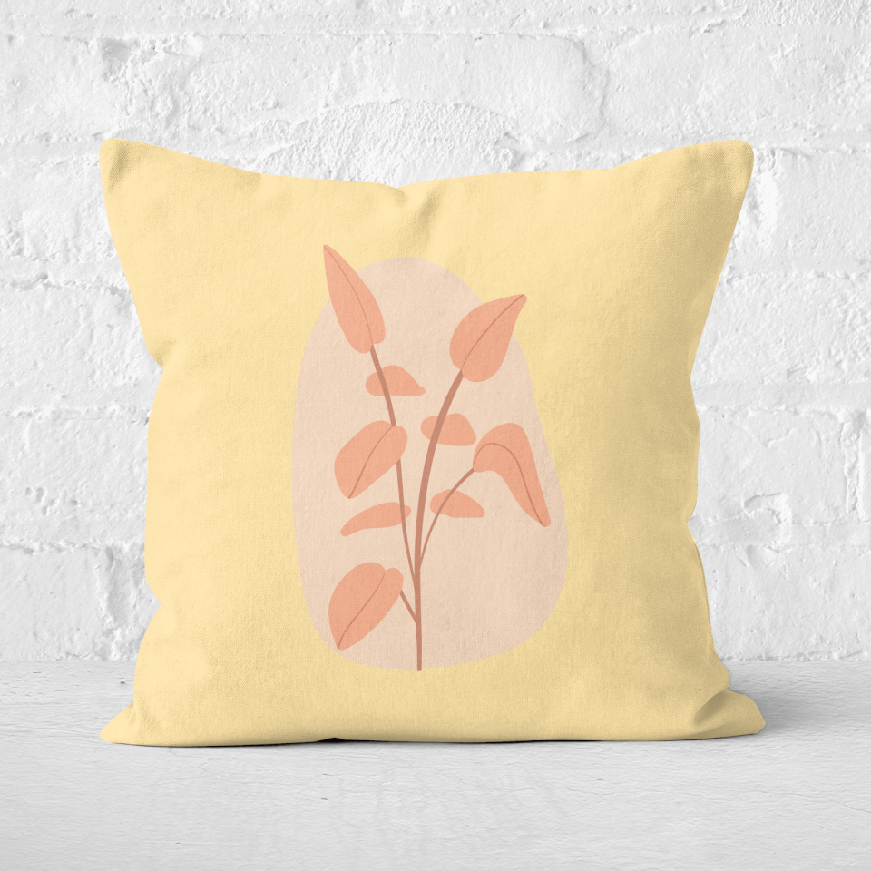 Stalk And Leaves Square Cushion - 60x60cm - Soft Touch von CALM/ZEN/YOGA