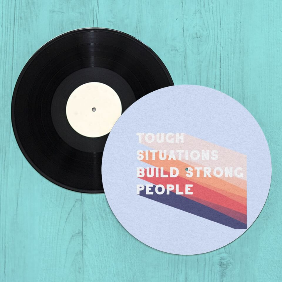 Tough Situations Build Strong People Slip Mat von CALM/ZEN/YOGA
