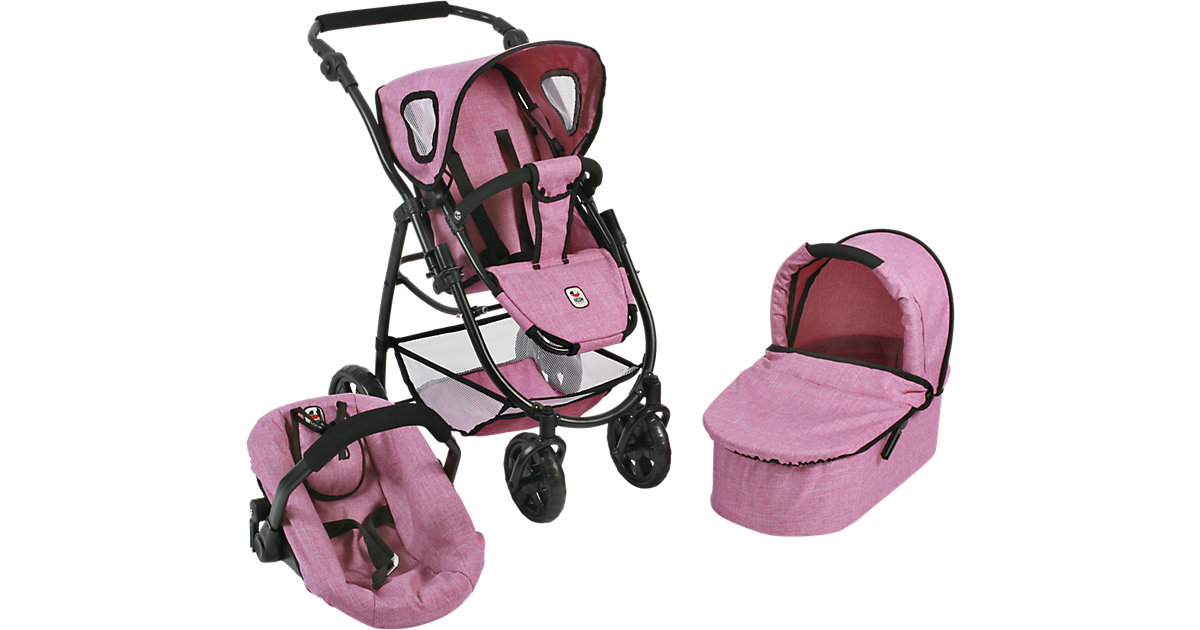 Puppenwagen Kombi Emotion 3 in 1 All In, Jeans Pink von CHIC 2000
