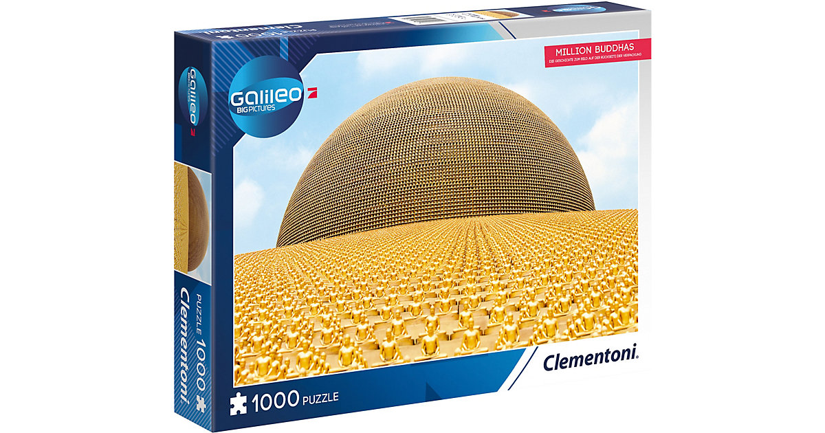 Galileo Big Picture Puzzle 1000 Teile - Million Buddhas von Clementoni