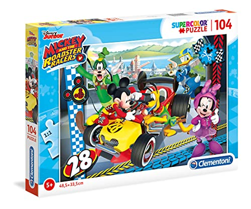 "Clementoni 27984"" Mickey and The Roadster Racers Puzzle, 104 Teile von Clementoni"