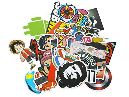Deko Vinyl Sticker I Aufkleber Set I Comic, Brands, Super Helden etc. Motive I 50 STK. von CoolChange