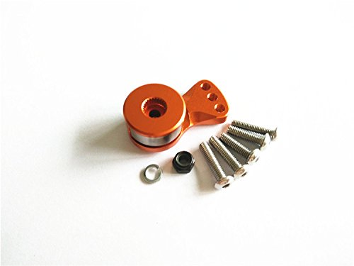 ALUMINIUM SERVO SAVER FOR 25T SPLINE OUTPUT SHAFT AJUSTABLE HI-TORQUE - 1PC Orange Alloy FOR 25T SERVO von CrazyRacer
