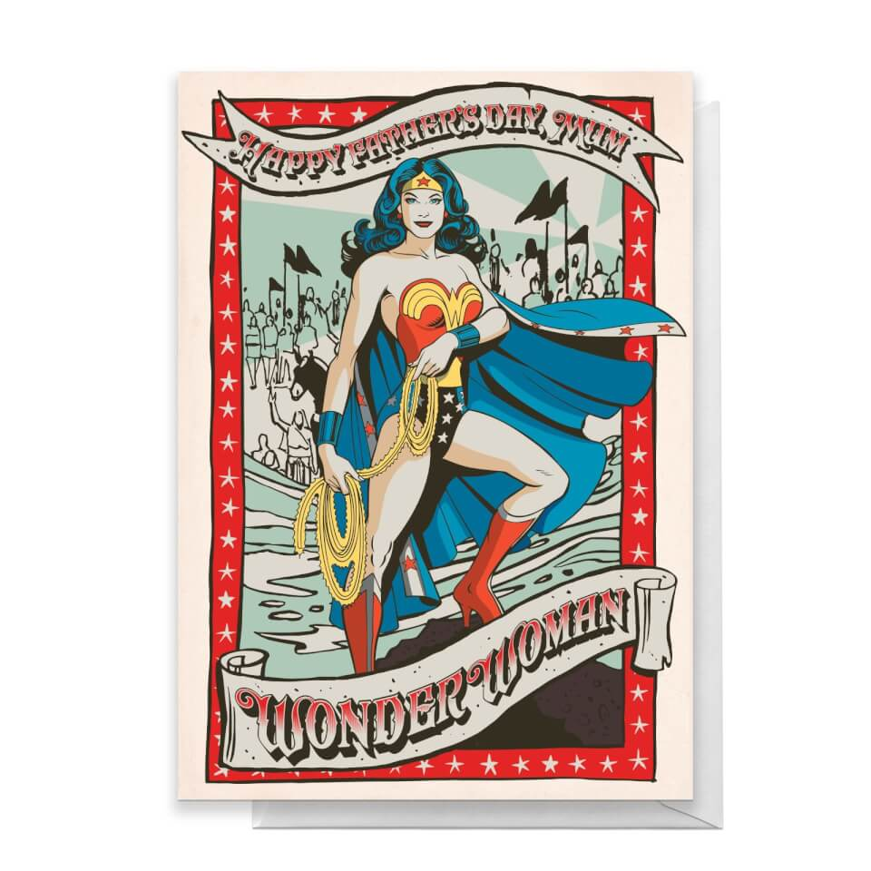 Wonder Woman Happy Father's Day To My Mum Greetings Card - Standard Card von DC Comics