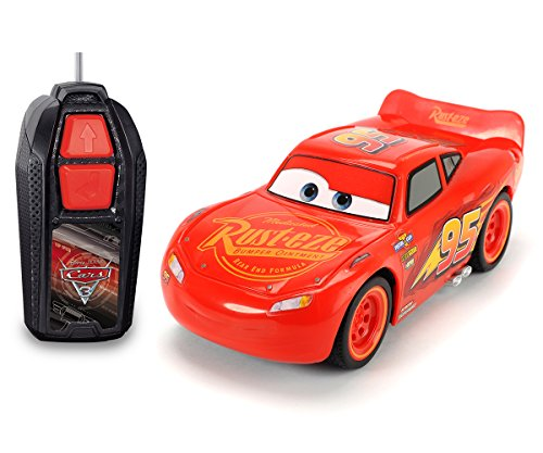Dickie Toys 203081000 Disney Fahrzeug RC Cars 3 Lightning McQueen Single Drive von Dickie Toys