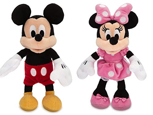 Disney Micky Maus und Minnie Maus Mini Bean Bag Stofftier Set 20cm von Disney