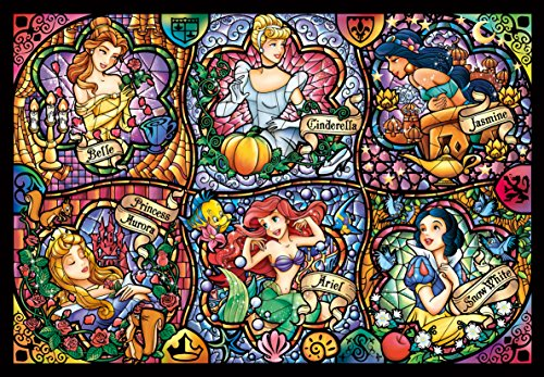 Tenyo Disney Brilliant Princess Stained Glass Gyutto Size Series Jigsaw Puzzle (500 Piece) von Tenyo