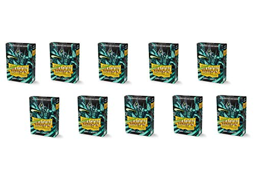 10 Packungen Dragon Shield Matt Mini Japanische Minze 60 ct Kartenhüllen Display Fall von Dragon