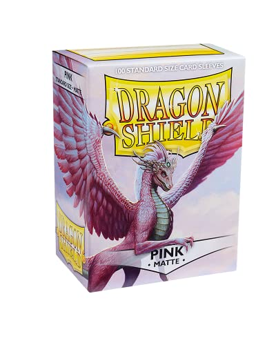 Dragon AT-11012 Shield 11012 Standard Sleeves Kartenhhüllen, Matte Pink von Dragon