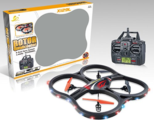 "RC UFO 4.5 Channel 2.4 Ghz 6 Axis Gyro Quadrocopter ""X129L with Camera von ES-TOYS"