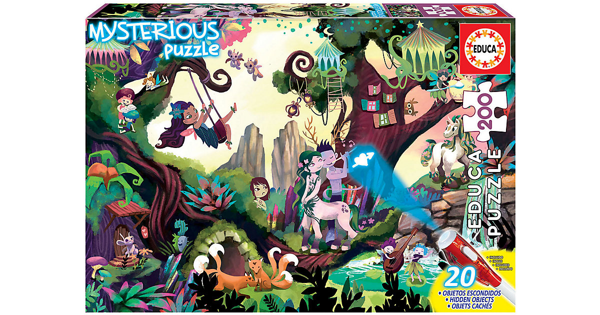 Mysterious Puzzle- Magic Forest, 200 Teile von Educa