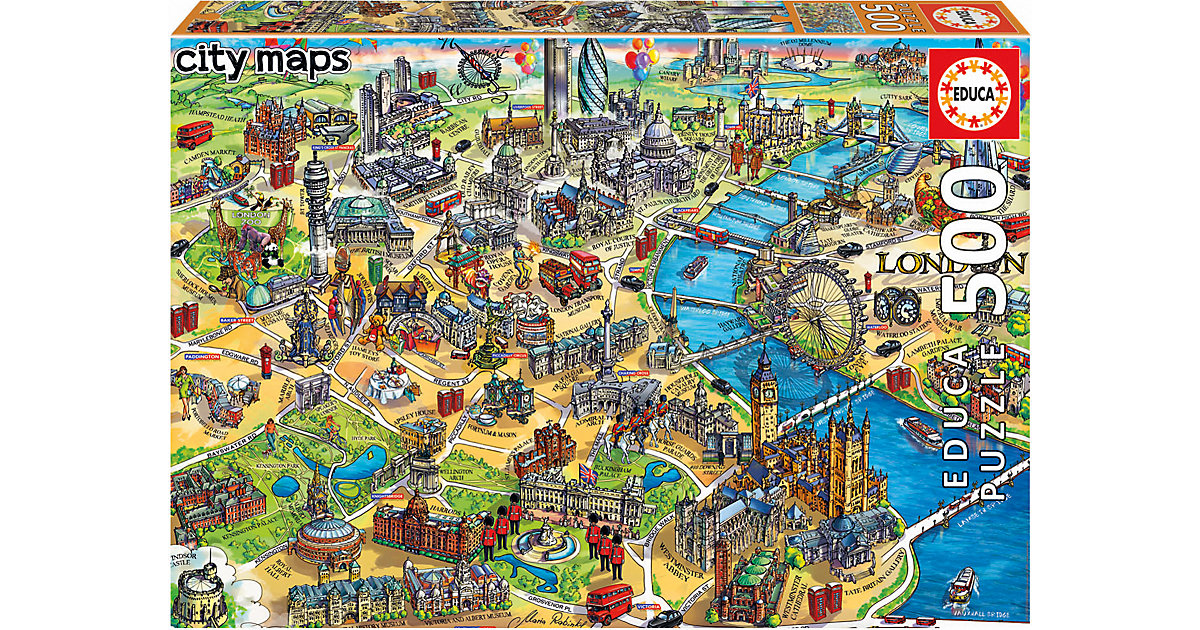 Puzzle London Map, 500 Teile von Educa