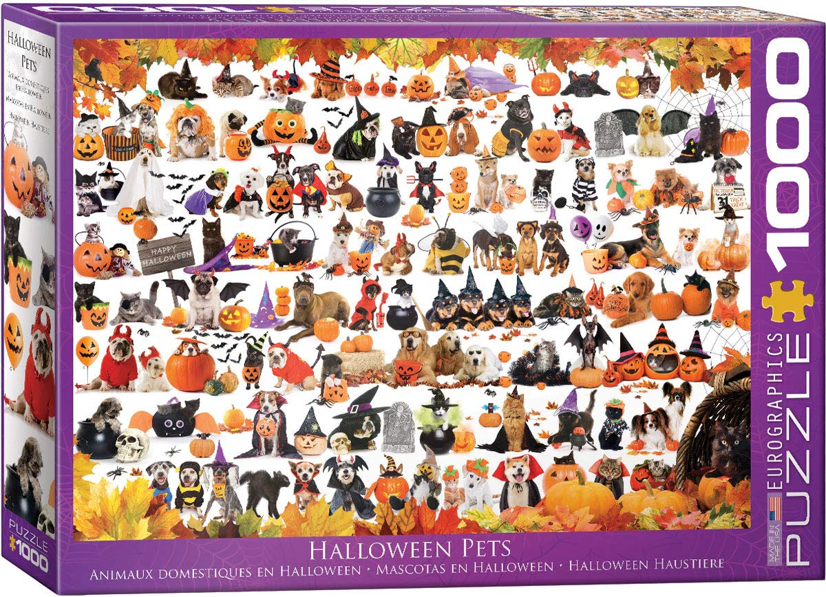Eurographics Halloween Puppies and Kittens 1000 Teile Puzzle Eurographics-6000-5416 von Eurographics