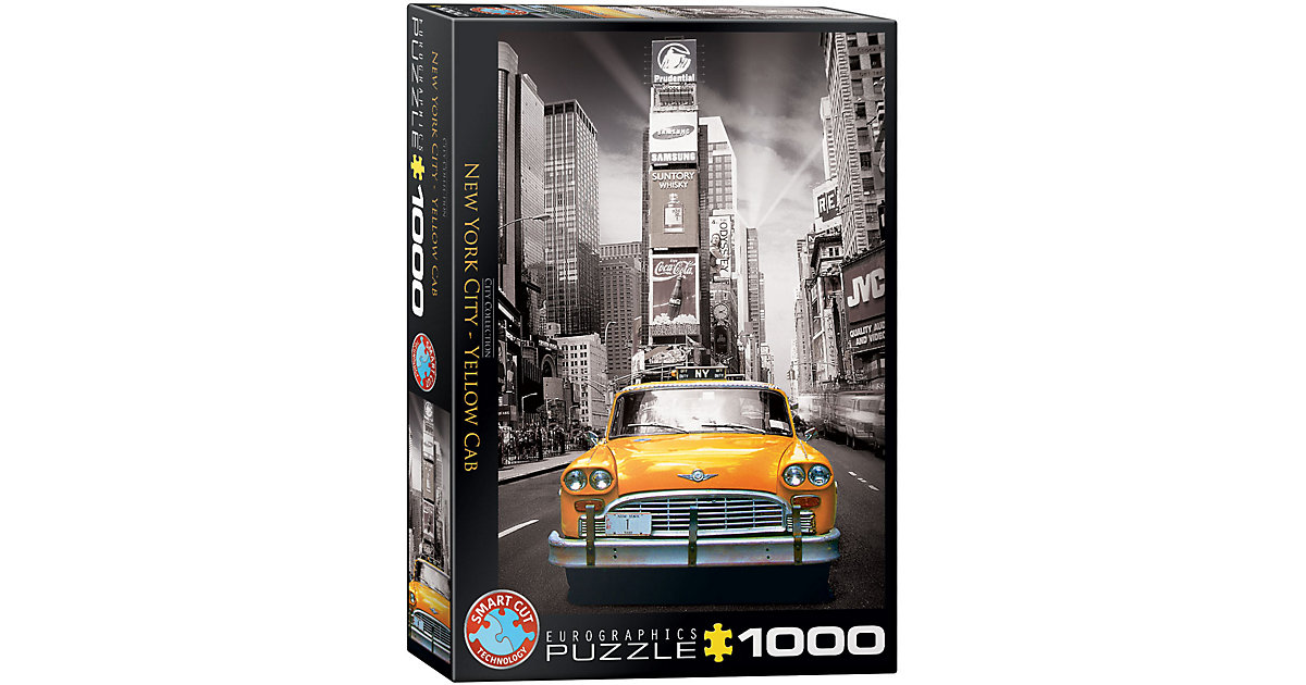 Puzzle 1000 Teile-New York City Yellow Cab von Eurographics
