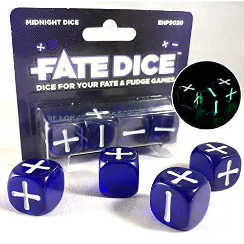 Evil Hat Productions EHP09020 - Fate Dice: Midnight Dice von Evil Hat Productions