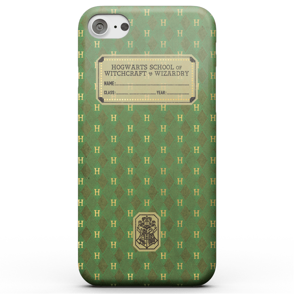 Harry Potter Slytherin Text Book Phone Case for iPhone and Android - iPhone X - Snap Hülle Matt von Harry Potter