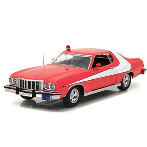 Greenlight Collectibles – Ford Gran Torino – Starsky & Hutch 1976 – Echelle 1/24, 84042, rot/weiß von Greenlight