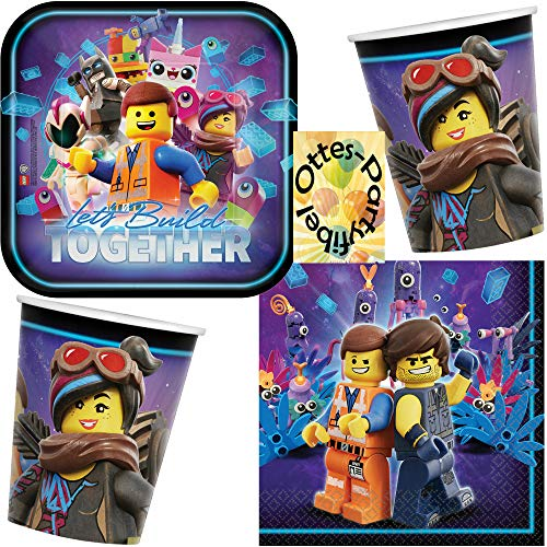 HHO Lego Movie-2 Lego-Party-Set Movie-Party-Set 32tlg. für 8 Gäste Teller Becher Servietten von HHO