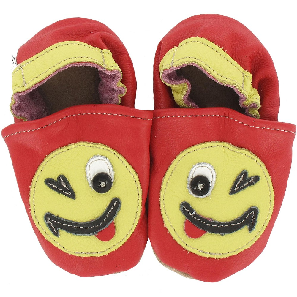 Kinderschuhe Smiley 18/19 (6 - 12 Monate) Krabbelsohle von HOBEA-Germany