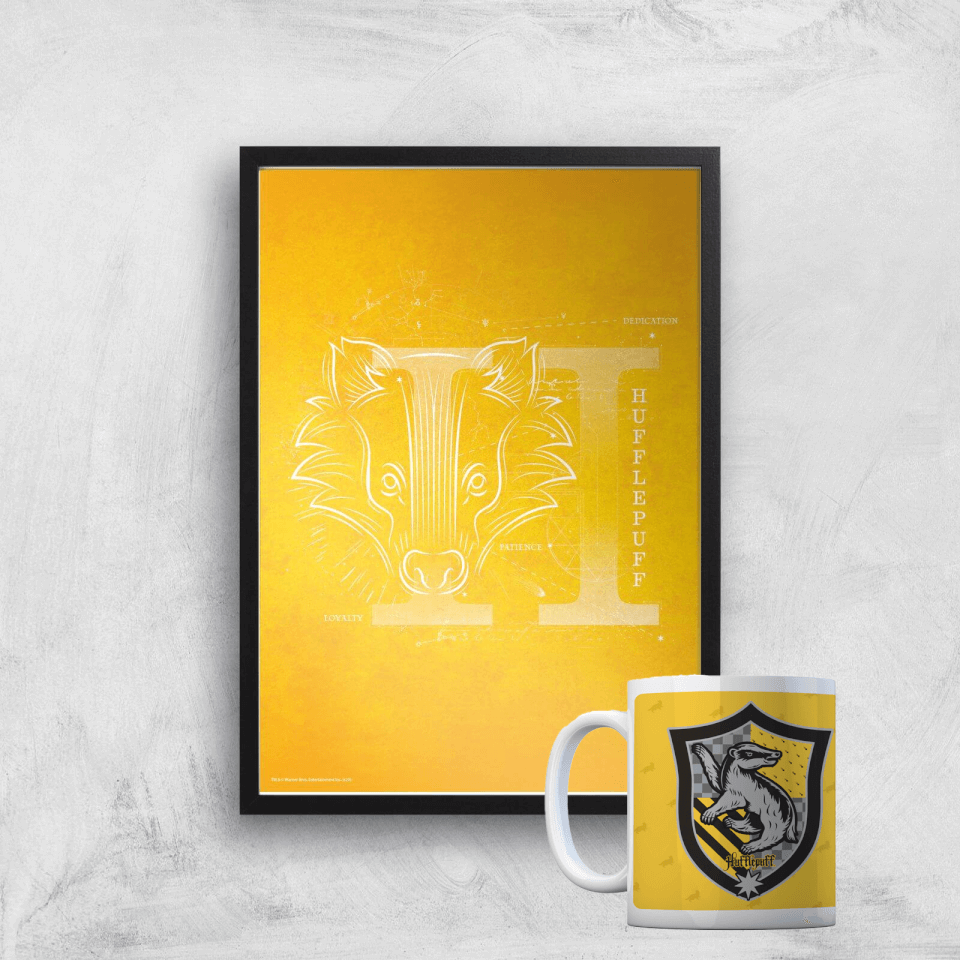 Harry Potter Hufflepuff Mug & A4 Print von Harry Potter