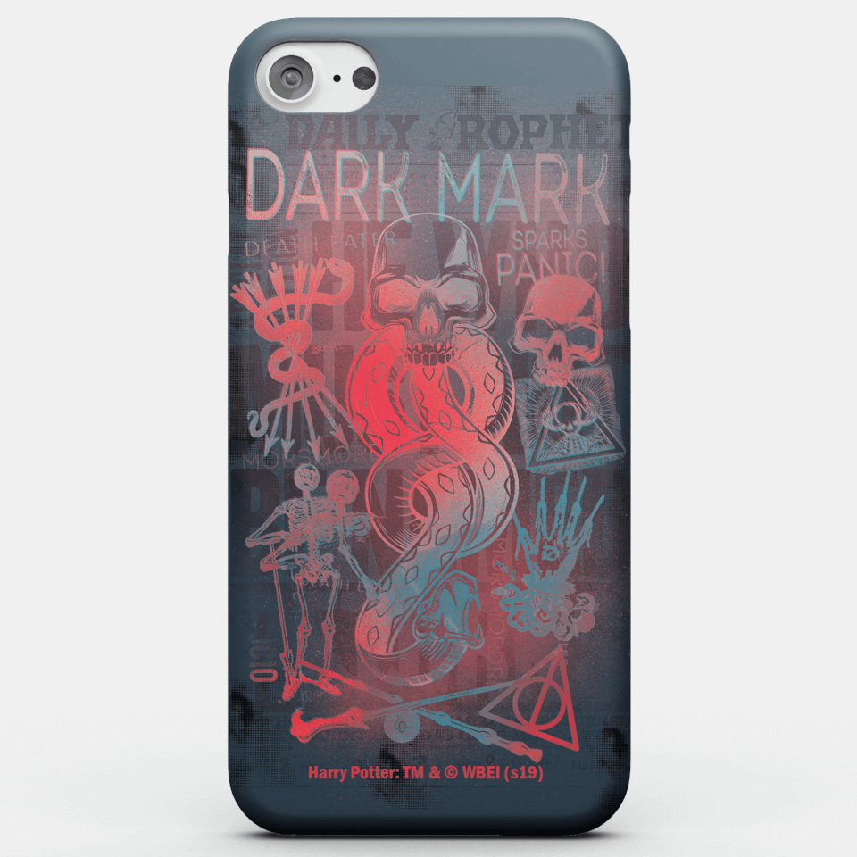 Harry Potter Phonecases Dark Mark Phone Case for iPhone and Android - iPhone 8 - Snap Hülle Matt von Harry Potter