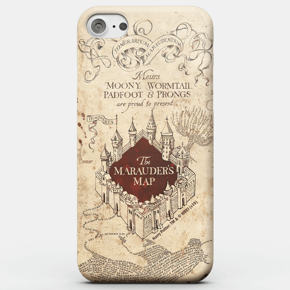Harry Potter Phonecases Marauders Map Phone Case for iPhone and Android - iPhone 6S - Snap Hülle Glänzend von Harry Potter