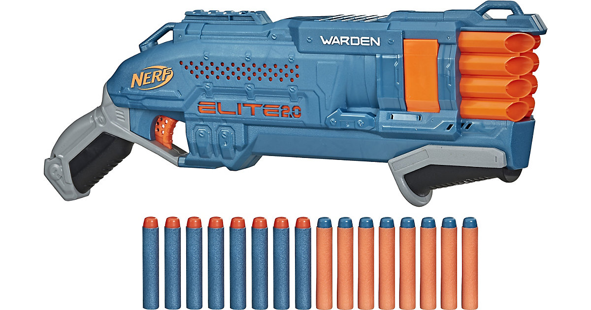 Nerf ELITE 2.0 Warden DB 8 blau/orange von Hasbro