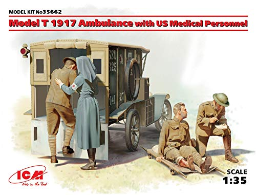 ICM 35662 Modellbausatz Model T 1917 Ambulance with US Medical Personnel von ICM