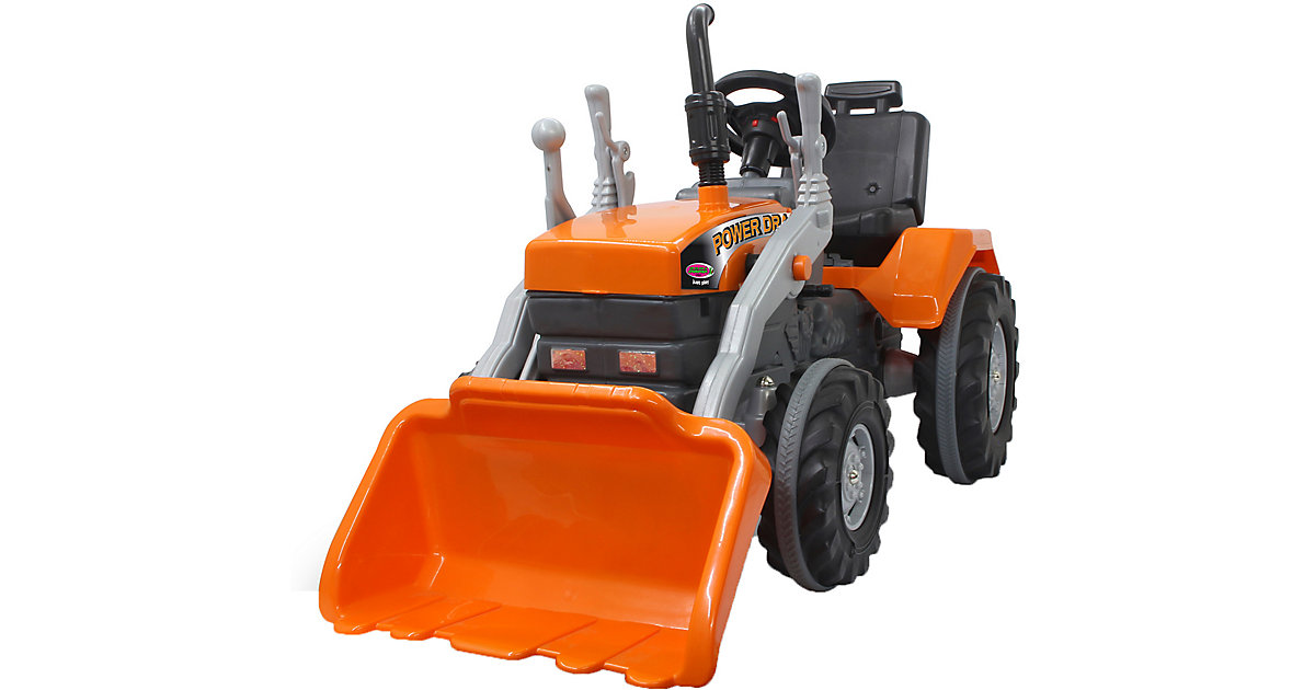 Trettraktor mit Frontlader Power Drag orange von Jamara