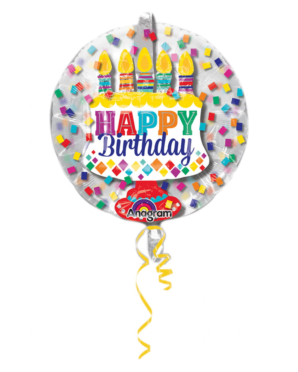 Ballon in Ballon Happy Birthday 60cm ★ von Karneval Universe