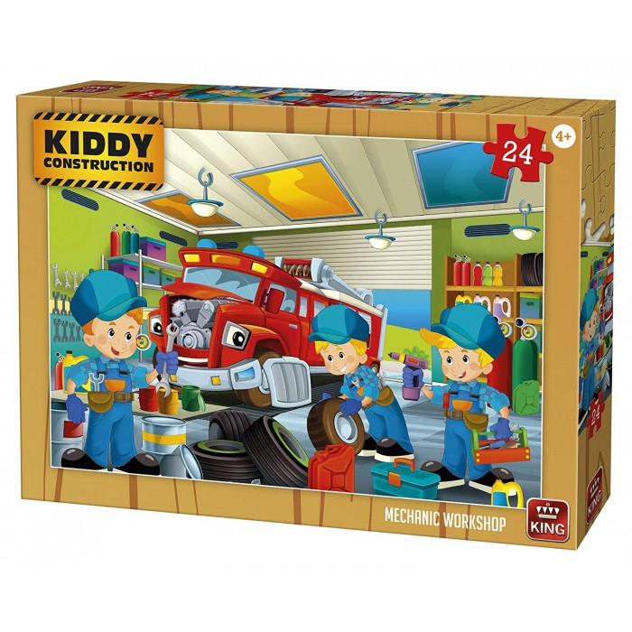 King International - Kiddy Construction - 24 Teile von King International