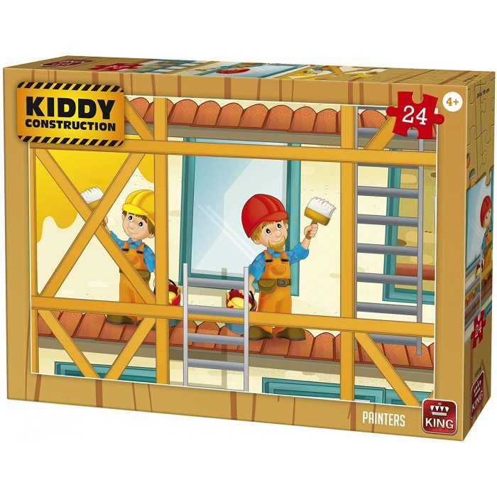 King International - Kiddy Construction - Painters - 24 Teile von King International