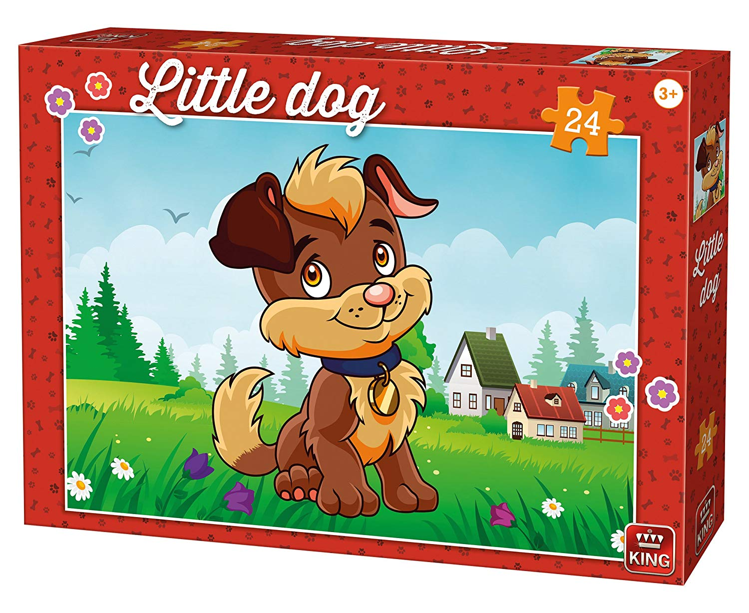 King International Little Dog 24 Teile Puzzle King-Puzzle-05798 von King International