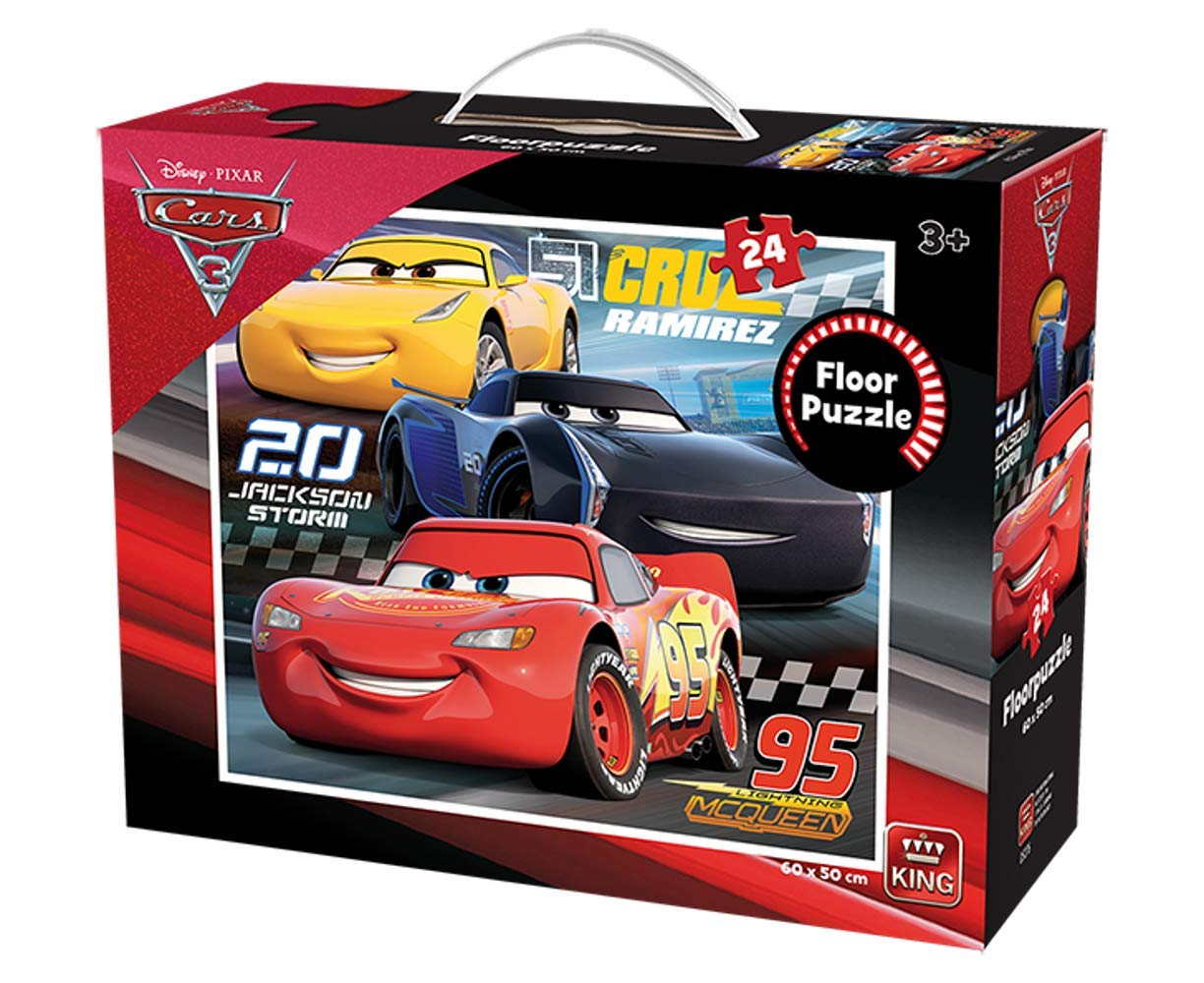 King International Riesenboden Puzzle - Cars 3 24 Teile Puzzle King-Puzzle-05276 von King International