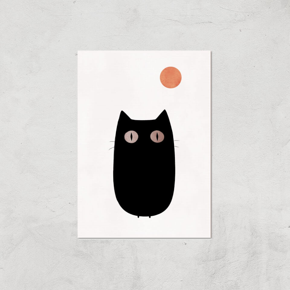 Kubistika The Cat Giclee Art Print - A2 - Print Only von Kubistika
