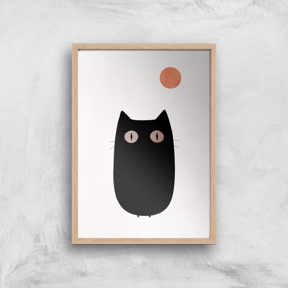 Kubistika The Cat Giclee Art Print - A3 - Wooden Frame von Kubistika