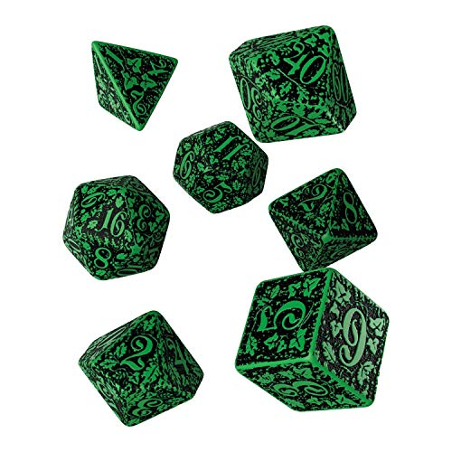 Q-Workshop QWOFOR15 - Brettspiel Forest 3D Dice Set, grün/schwarz von Q-Workshop