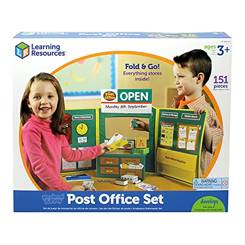 Learning Resources LSP2666-UK Pretend & Play Spielszenarien - Postamt von Learning Resources