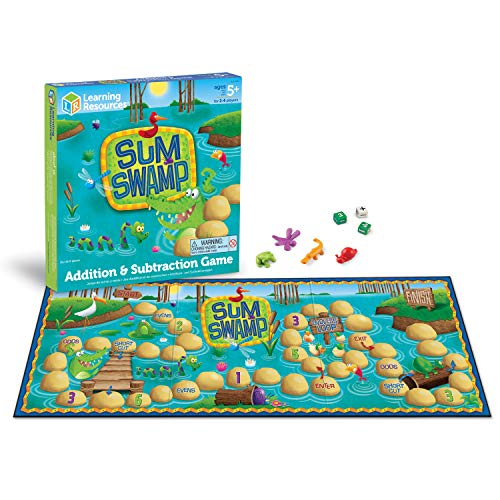 Learning Resources LER5052 Sum Swamp Additions-und Subtraktionsspiel von Learning Resources