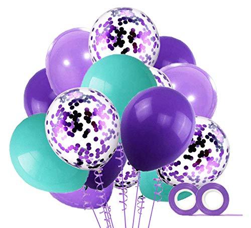 MAKFORT 40 Stuck Grun und Weiss Luftballons mit Konfetti Ballons