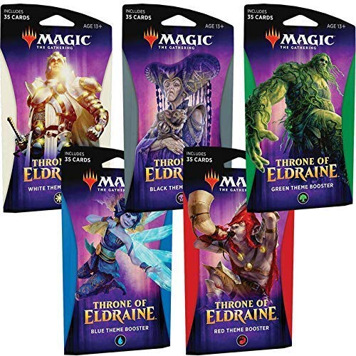 Magic The Gathering MTG-ELD-TBD-EN Throne of Eldraine Booster-Set, 5 Stück von Magic The Gathering