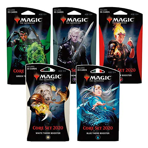 Magic The Gathering C63530000 - Core Set 2020 Themenbooster, 5-er Set von Magic the Gathering