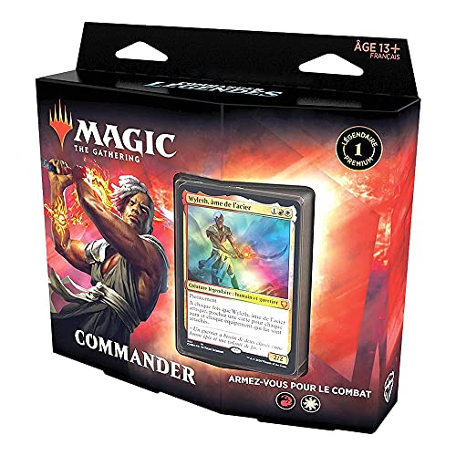 Magic The Gathering Commander Legends: Seien Sie bereit für den Kampf | Deck mit 100 Karten | 1 Premium Besteller | Rot-Weiß, C78591010 von Magic The Gathering