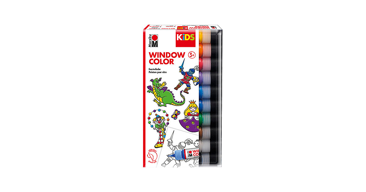 KIDS Window Color, 10 x 25 ml von Marabu