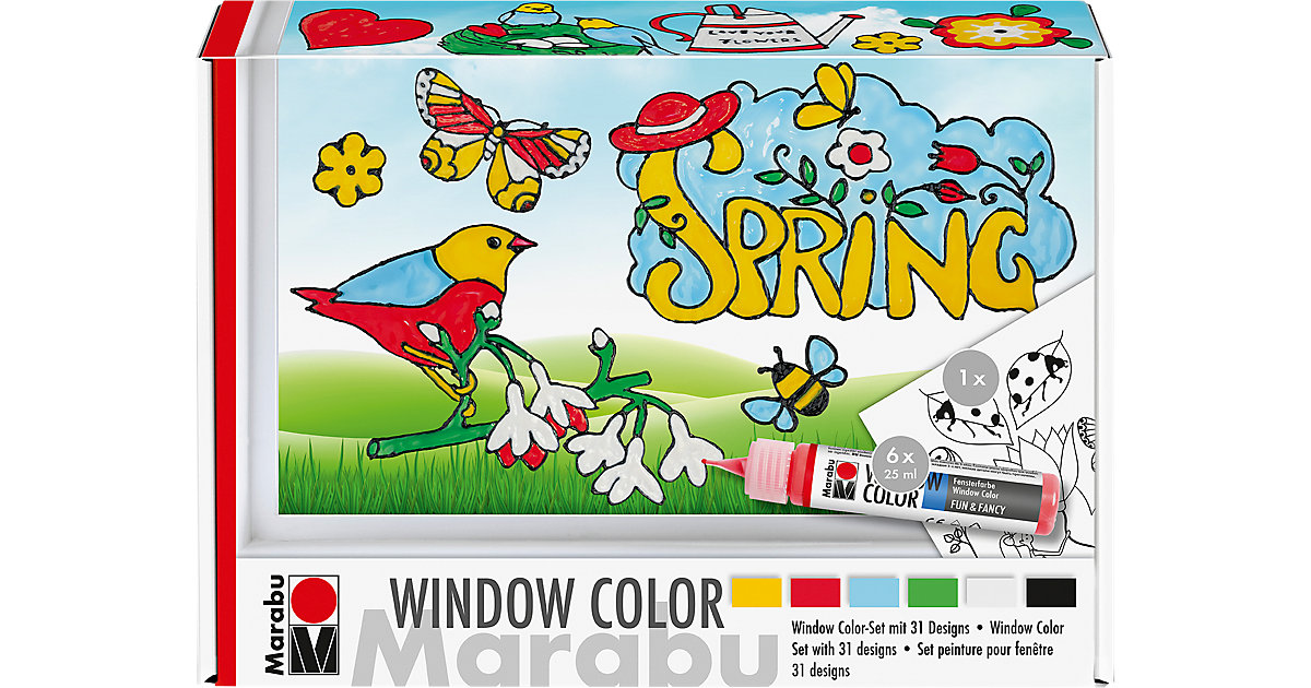 "Window Color Set fun & fancy ""Spring Time"", 6 x 25 ml von Marabu"