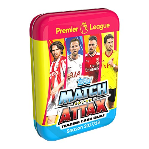 Topps Match Attax Premier League 2017/18 Tin Dose mit 45 Karten - darunter 7 Special Cards von Match Attax